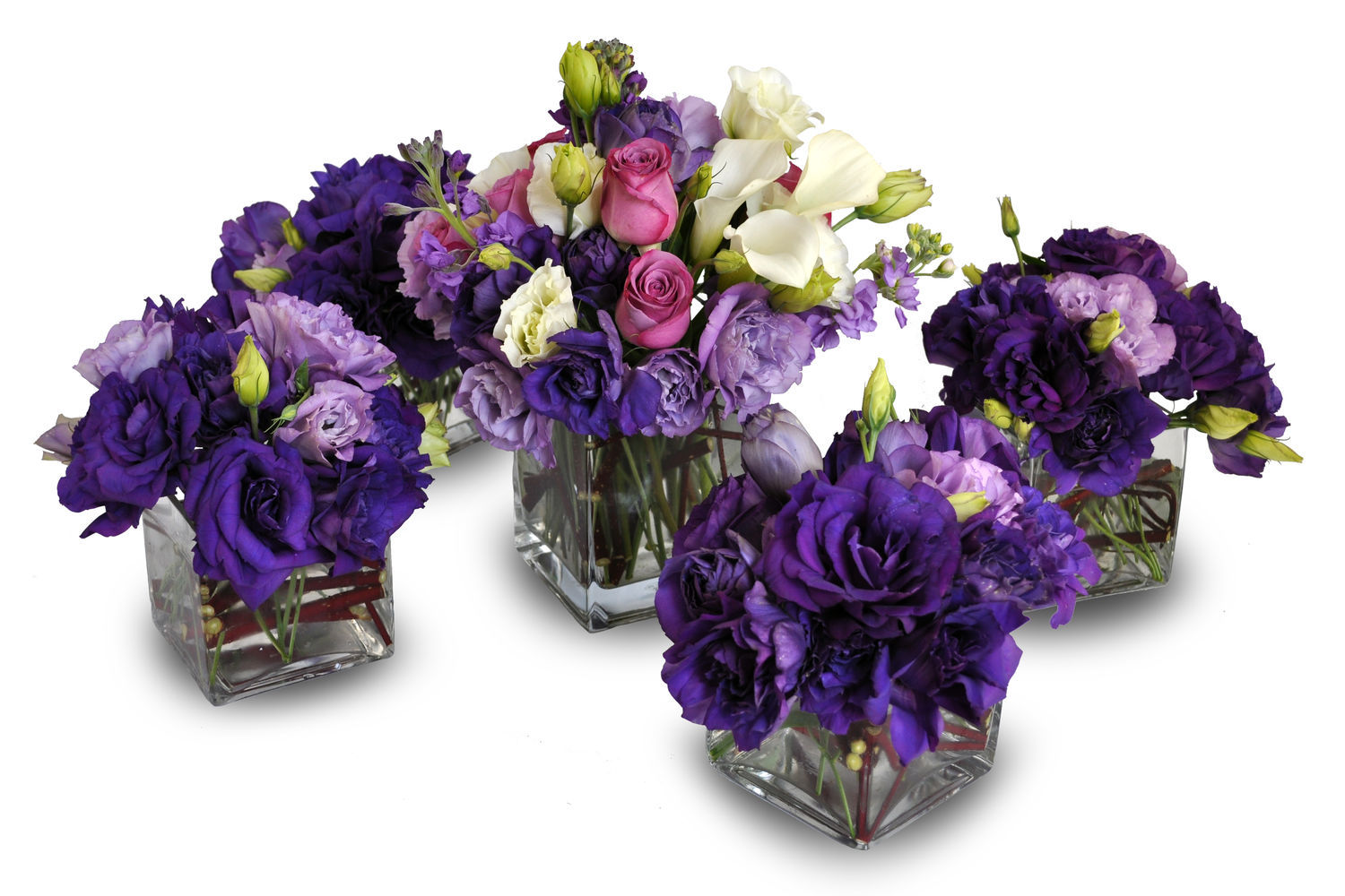 Purple And Yellow Table Decorations