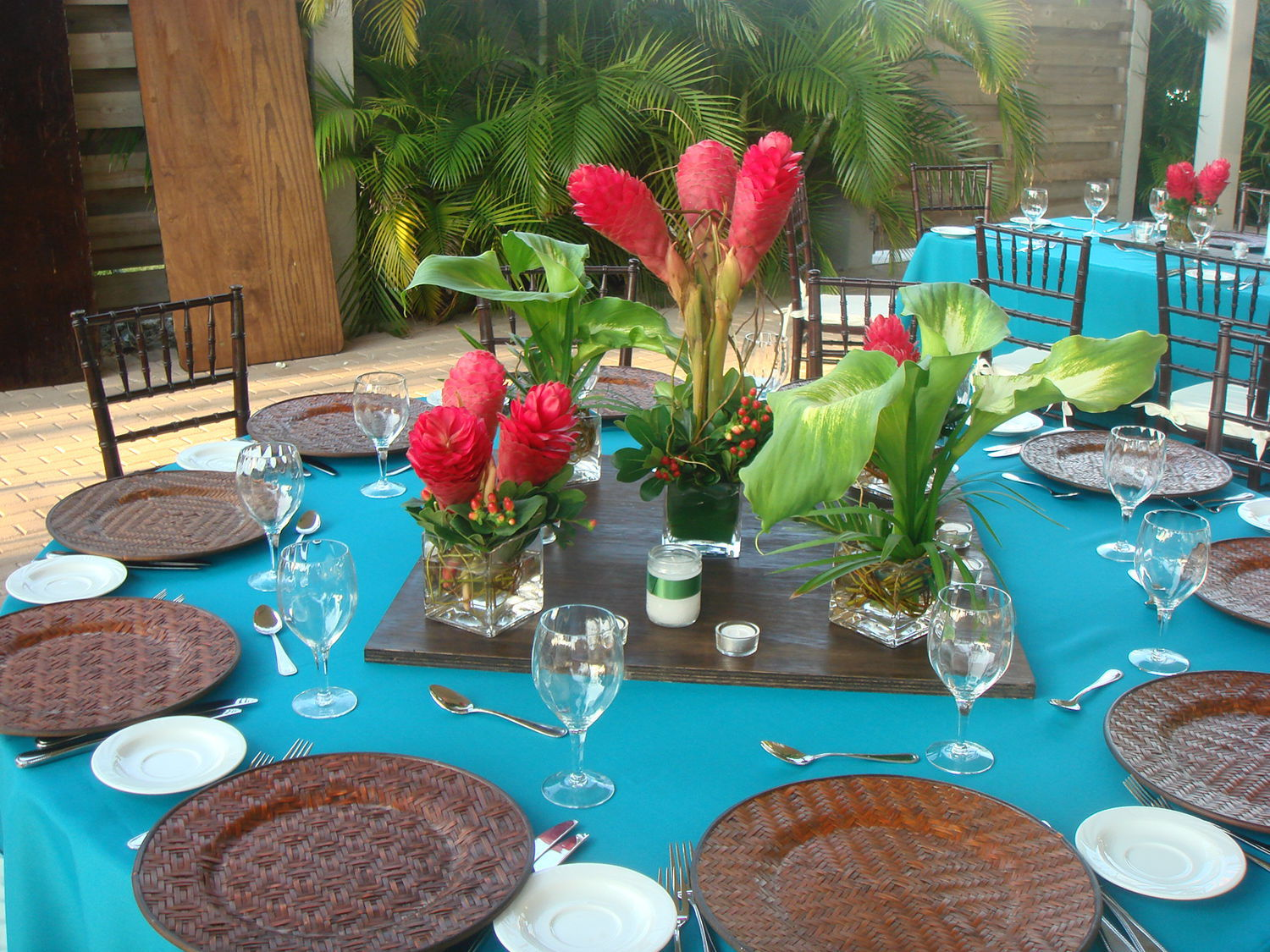 Caribbean Theme Party Ideas On Pinterest: Reception Centerpieces